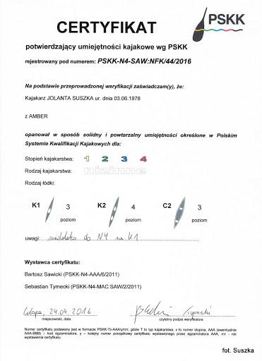 PSKK certyfikat Jolanta Suszka